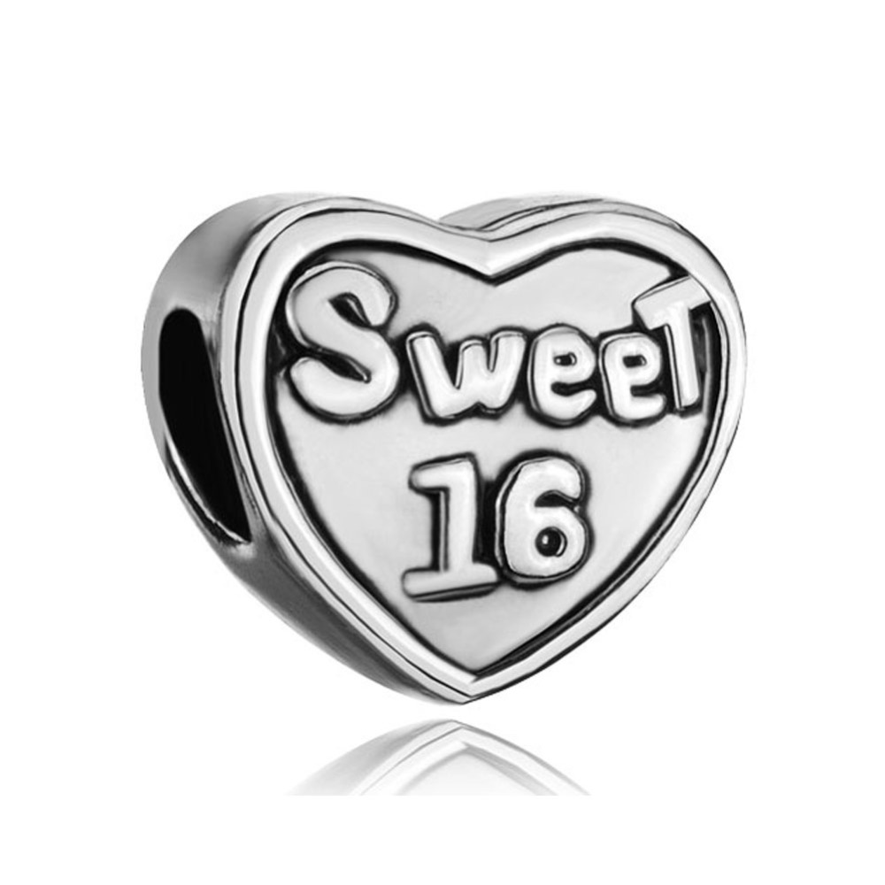 00ea0ecca Sweet 16 Age Charm Fit for Pandora Bracelet-in Beads from Jewelry &  Accessories on Aliexpress.com | Alibaba Group
