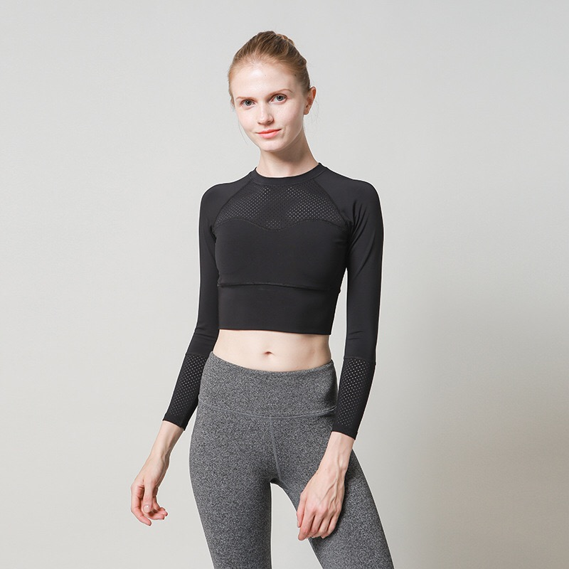 Sporty style stripe t-shirt per le donne athleisure scaletta posteriore fitness crop top activewear nero Camouflage sexy femminile t-shirt