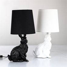 White Rabbit Table Lamp For Living room Bedroom Hotel Besides luminaria mesa Animal Home Deco Resin industrial table lamp