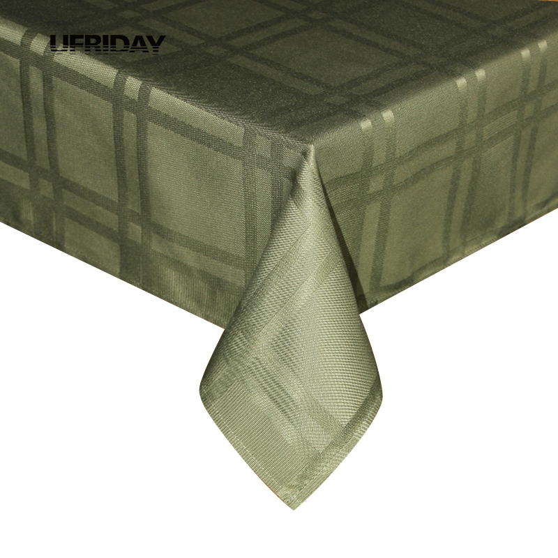 ufriday polyester tablecloth green waffle pattern table cloth green design waterproof rectangle picnic table cover tafelkleed