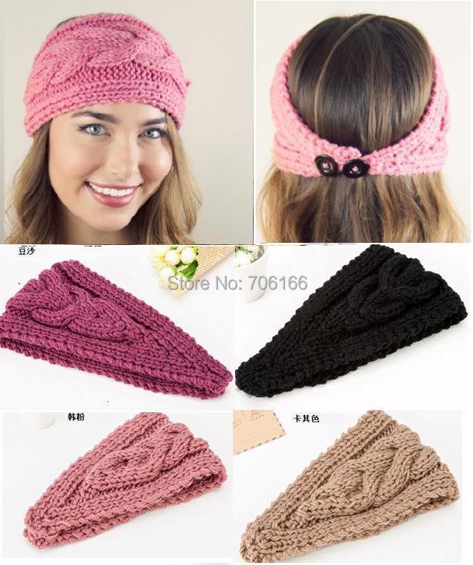 Women Chunky Knit Headband Crochet Headbands Elastic hair accessories Hair Band
