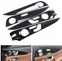 Для Mercedes Benz E Class W213 E200l 300l 2016 2017 автомобилей Межкомнатная дверь Панель крышка отделка Аксессуары Укладка ABS 4 шт./компл.