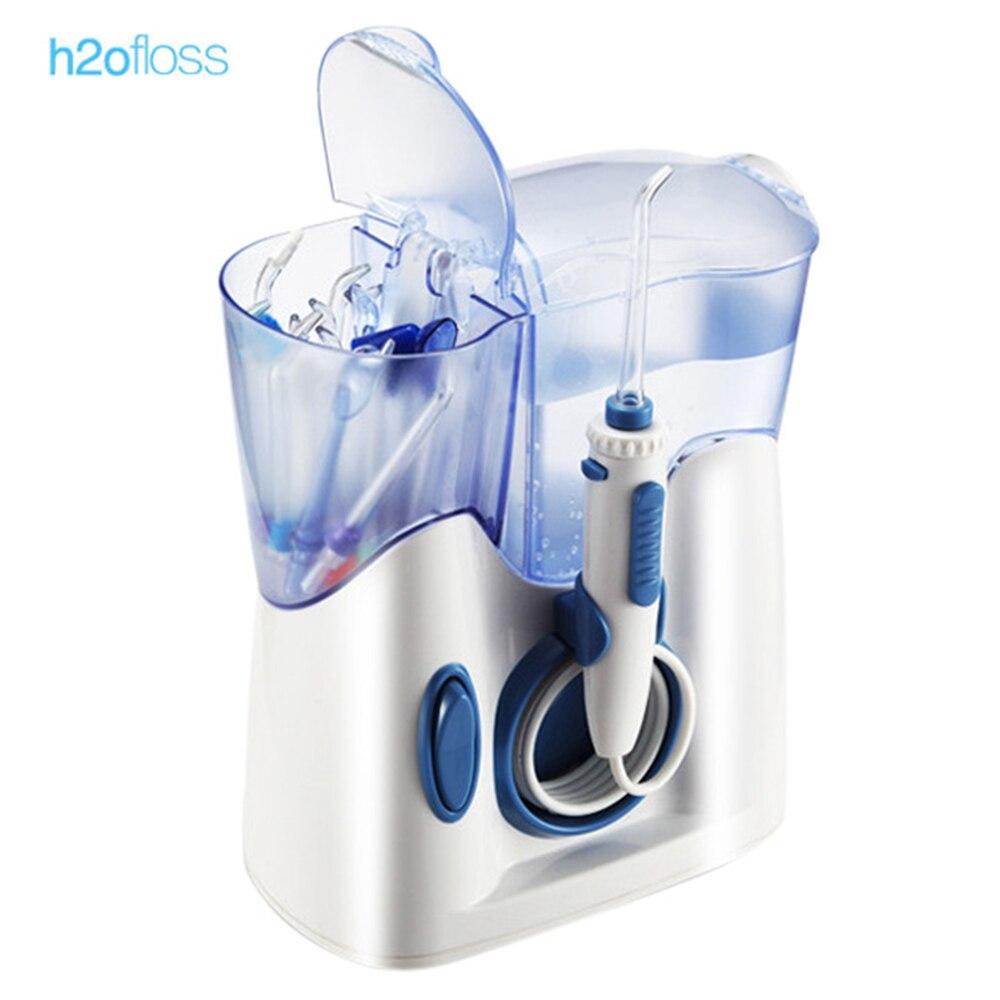 H2ofloss 800 мл Электрический Ирригатор для полости рта зубы Вода flosser Душ очистки машины низкий Шум струи воды Зубная щётка 6 режимов