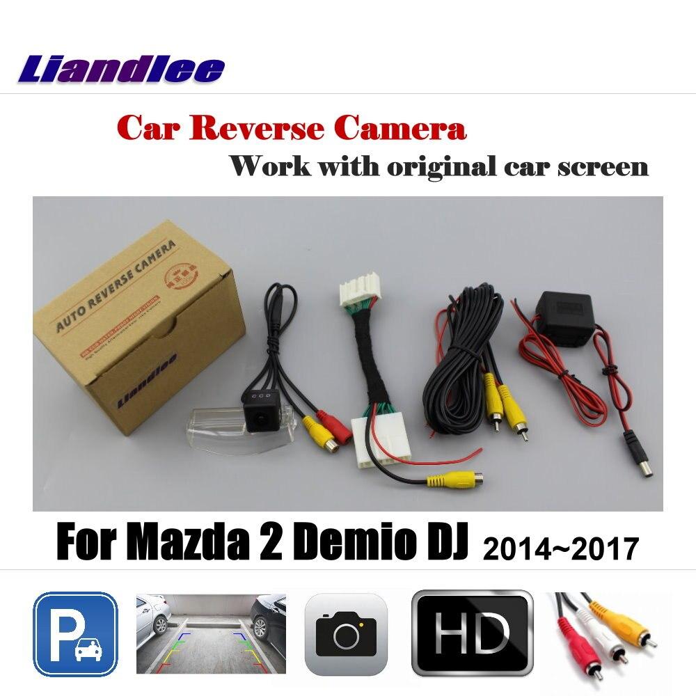 Liandlee Per Mazda 2 Demio DJ 2014 ~ 2017 Display/Vista Posteriore Dell'automobile Backup Telecamera per la Retromarcia Reverse Retromarcia Macchina Fotografica di parcheggio