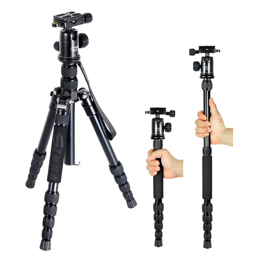 DHL wholesale  gopro Sinno M-2522z professional camera  tripod head monopod SLR Portable micro single tripod folding only 33cm dhl new gopro benro a373ts6 s6 hydraulic ball head dual bird watching tripod camera photography tripod wholesale