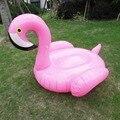 1.5 m 60 polegadas Pink Flamingo Inflável Natação Bóia Ride-on Brinquedos de Água Inflável Piscina Praia Fun Boia Flamingo