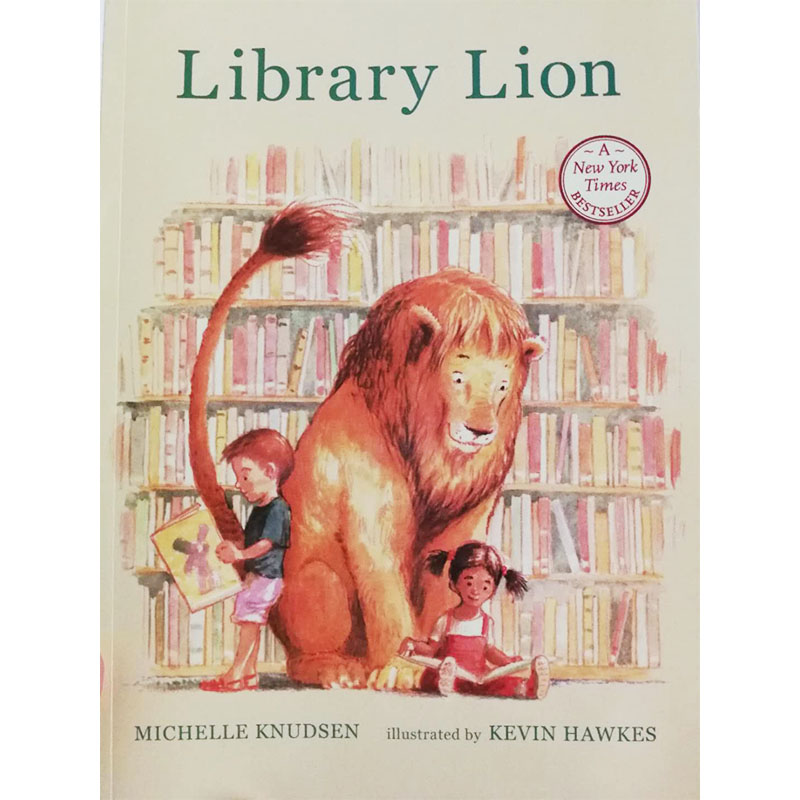 Library Lion By Michelle Knudsen Educational English Picture Book Learning Card Story Book For Baby Kids Children Gifts