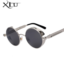 Round Metal Sunglasses Steampunk Men Women Fashion Glasses Brand Designer Retro Vintage Sunglasses UV400