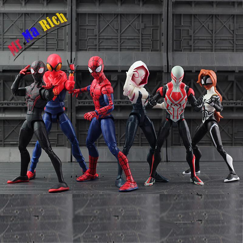 7 Tipo Di Film Spiderman Homecoming Gwen Stacy Donna Ragno Spider Man Action Figure Modello Doll Regalo Di Natale