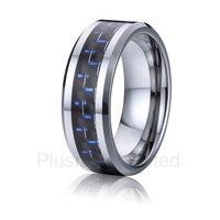 China Wholesaler Fashion Jewelry Blue Carbon Fiber Metal Titanium Wedding Wedding Rings For Men