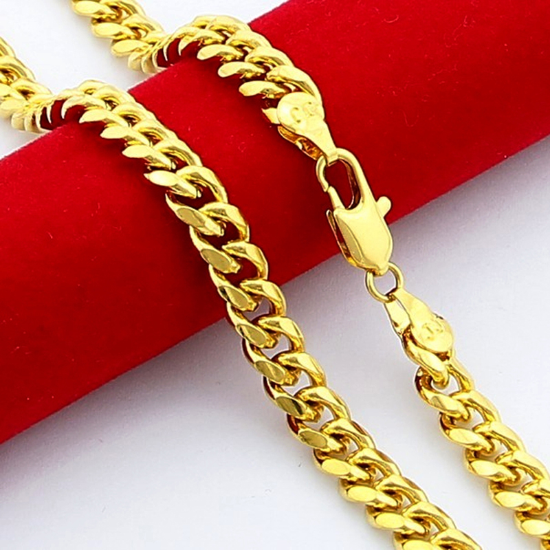 Big Promotion Gold Color Link Chain Men\'s Jewelry Simple Design ...