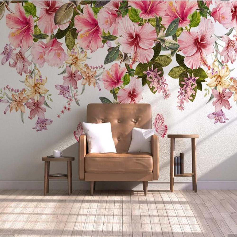 3d Vintage Flower Wallpaper Mural Stereo Wall Paper Roll For