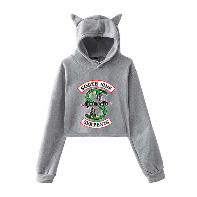 US $4.55 30% OFF|South Side Serpents Riverdale bluza z kapturem bluzy spodnie kobiety dziewczęta kobieta Harajuku Riverdale southside swetry topy z