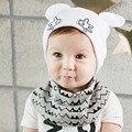2016 Recém-nascidos Primavera e No Outono cap Orelhas Bonito Cap Bebê Projeto meninos/Meninas Crochet Gorro Crianças Chapéu Do Bebê Do Algodão 0-24 m