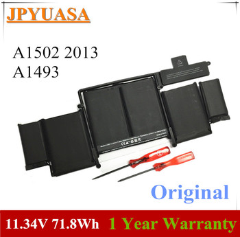7XINbox 11.34V 71.8wh A1493 Laptop Battery For Apple Macbook Pro 13