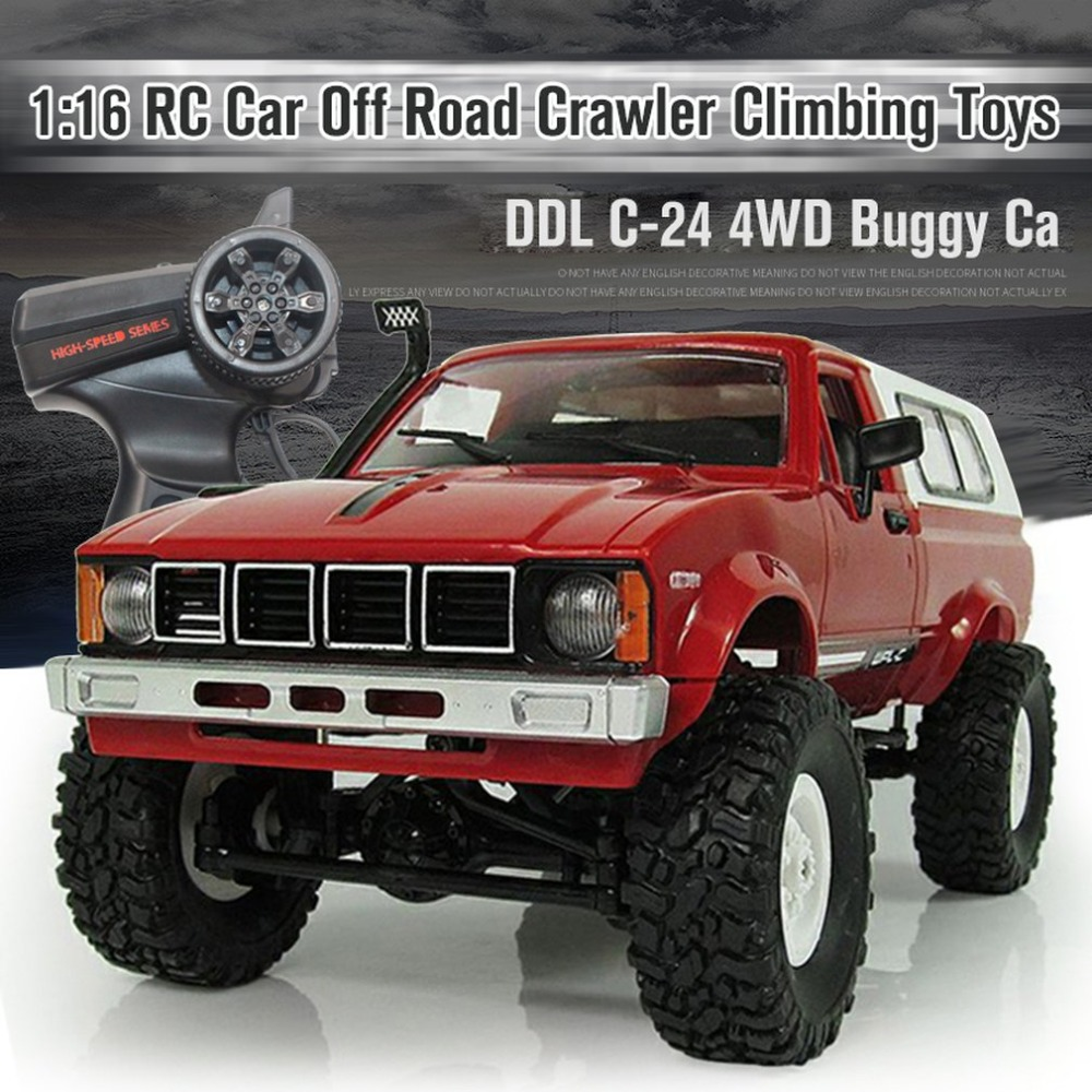 RC C-24 4WD 1:16 RC Car Off Road Crawler Climbing Toys With Headlight Remote Control Vehicle Buggy Toys For Kids Gift RTR