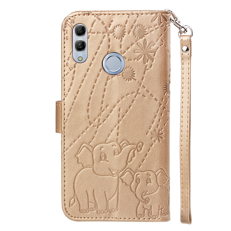 Luxury PU Leather case For Huawei Honor 10 Lite Case Flip mobile phone cover sFor Huawei P Smart 2019 Cases wallet Coque bag in Flip Cases from Cellphones Telecommunications