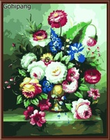 DIY Digital Canvas Oil Painting By Numbers Home Wall Decor Coloring By Numbers Hand Painted Linens