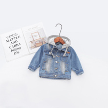 f10147833 2019 Fashion Spring Baby Infants Kids Children Boys Male Hooded Hole Washed  Denim Jeans Coat Jackets