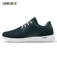 Onemix outdoor walking shoes men light weight breathable mesh sports sneaker running for man's trekking fitness top quality