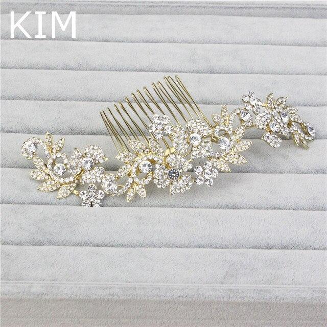 Sparkling crystal tiaras bridal wedding hair jwerlry hairwear princess long big Refinement haircomb free shipping HGC-003