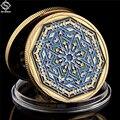 Saudi Arabia Islam Muslim Ramadan Kareem Festival Octagon Illustration Gold Collectible Coin