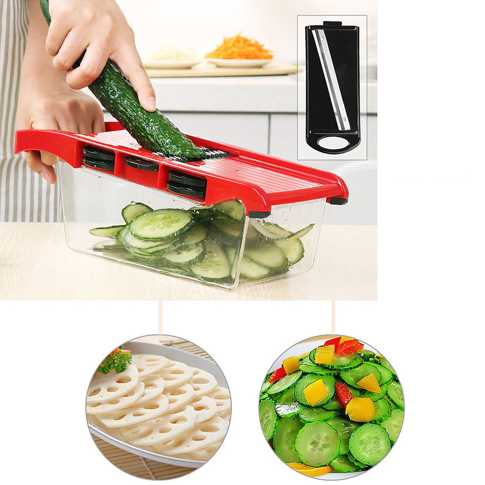 Multifunction Vegetable Chopper Stainless Steel 6 Sets Shredder Slicers Strips Device Manual Meat Grinder Grater in Graters from Home Garden
