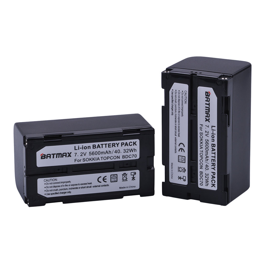 Batterie Li-ion Batmax 2Pc 5600mAh BDC70 akku pour station totale sokkia CX FX