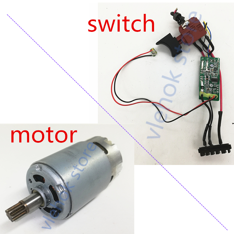 Worx Switch And Motor For  WU390 WX390 20V H3 WX178 Machinery Armature Rotor Power Tool Accessories Electric Tools Part