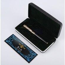 Freies Verschiffen Rollerball Stift High end Gold Blau Stein und Silber Rot Stein Duke Kugelschreiber Schwarz Tinte Medium refill Geschenk Stifte