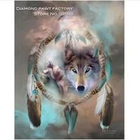 Icon Diamond Embroidery Wolf Mosaic Crystal 5D Cross Stitch Square Drill Diamond Painting DIY Sticker Decoration