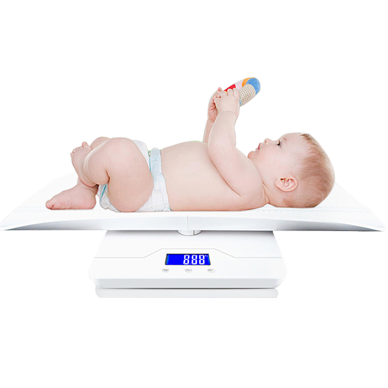Multi-Функция цифровая шкала ребенка измерения ребенка/взрослых Вес точно, Ёмкость с точностью 10 г, кг/унция/фунт, Длина 60 см