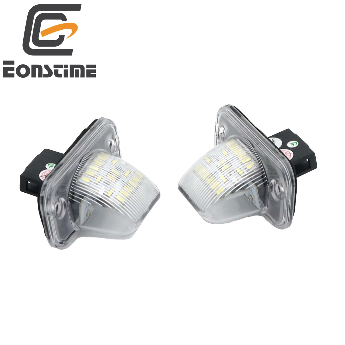 Eonstime 2Pcs 18SMD <font><b>LED</b></font> License Plate Number <font><b>Light</b></font> Lamp For <font><b>VW</b></font> Transporter T4/Caravelle MK4/Multivan <font><b>Passat</b></font> <font><b>B5</b></font> B6 Combi Eurova image