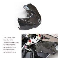 Xe máy Twill Sợi Carbon Bóng Kết Thúc Nhiên Liệu Khí Tank Top Fairing Chỉnh Bìa đối với BMW S1000R 2014-2017 S1000RR 2015-2017