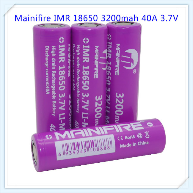 1pc Mainifire 32000mah 40A imr 18650 3.7v 3200mah rechargeable battery Batteries