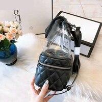 Women Backpacks 2018 cc PVC bags luxury designer Solid Backpacks fashion