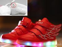 2017 Brands LED Luminous For Kids Children Casual Shoes Glowing Usb Charging Boys Girls Sneaker Light