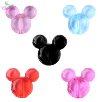 Free Shipping 50Pcs Lot 34 37mm Fashion Jewelry Solid Black Color Chunky Acrylic Mouse Beads For