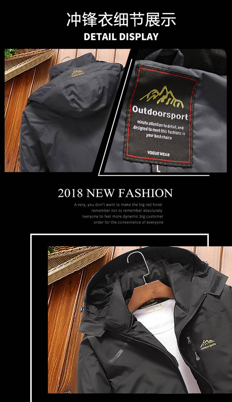 2019 Spring Autumn outdoor Sports Windbreaker Men Plus Size Camping Hiking Rain Waterproof Jacket SoftShell Fishing Coats 4XL (2)