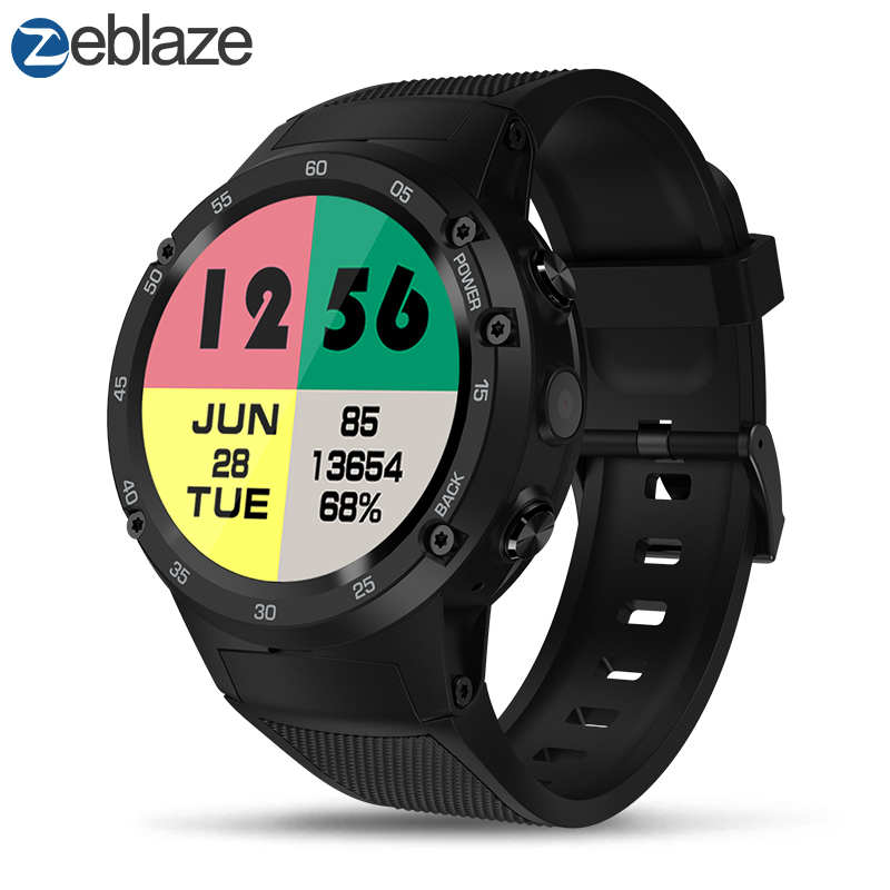Zeblaze THOR 4 Phare 4G LTE GPS SmartWatch Android 7.0 MTK6737 Quad Core 1 GB + 16 GB 5.0MP 580 mAh 4G/3G/2G Appel de Données montre pour homme