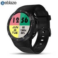 Zeblaze THOR 4 Flagship 4G LTE GPS SmartWatch Android 7.0 MTK6737 Quad Core 1 GB + 16 GB 5.0MP 580 mAh 4G/3G/2G Data di Chiamata Della Vigilanza Degli Uomini