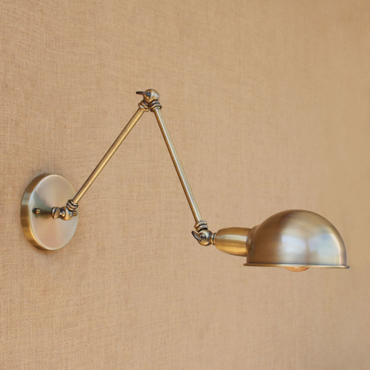 Copper Swing Long Arm Wall Lamp Vintage Dinning Room Edison Loft Style Industrial Wall Light Sconces Retro Applique LED swing long arm wall light rustic retro loft style industrial wall lamp vintage wandlamp edison wall sconces appliques murales