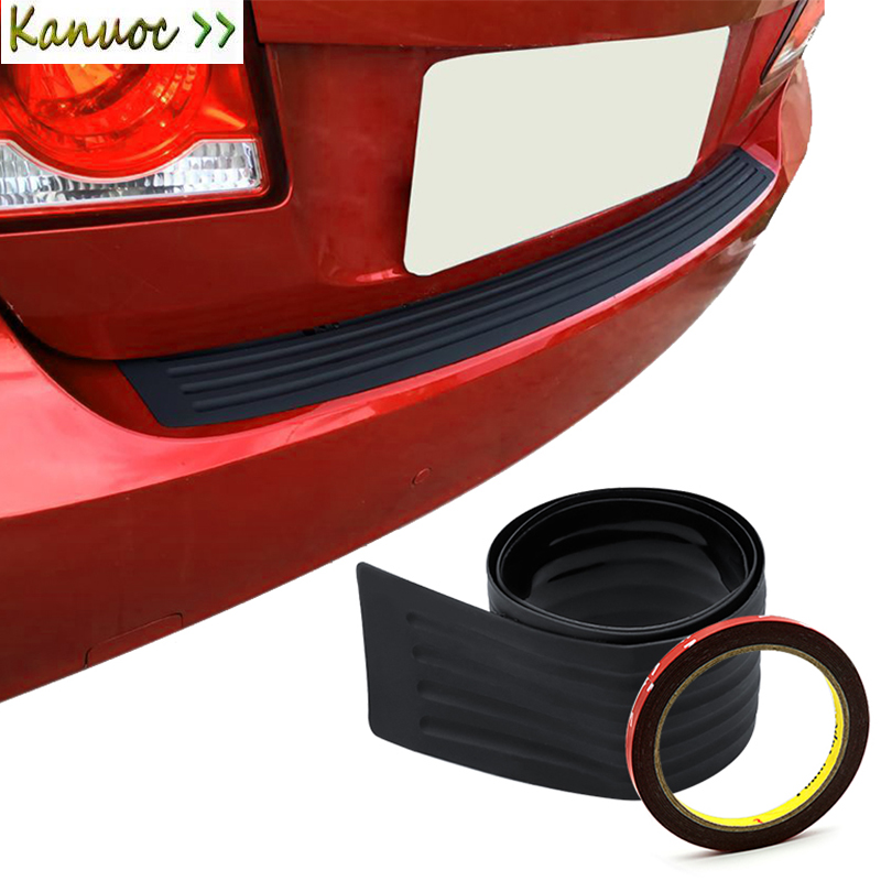105cm Car Rear Bumper Guard Protector Trim Cover Sill Plate Trunk Pad Kit For <font><b>BMW</b></font> M <font><b>X5</b></font> E90 E60 F30 F10 <font><b>F15</b></font> E63 E64 E65 E86 E89 image