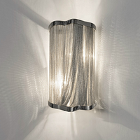 Fringed aluminum chain wall lamp post modern chain lamp waterfall personality creative luxury chain wall lamp LM506923