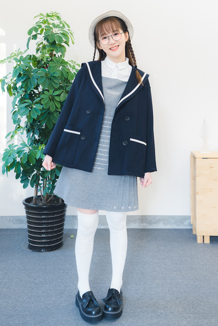 Autumn new collection loose sailor collar jacket student preppy style japanese style all match women young girl jacket