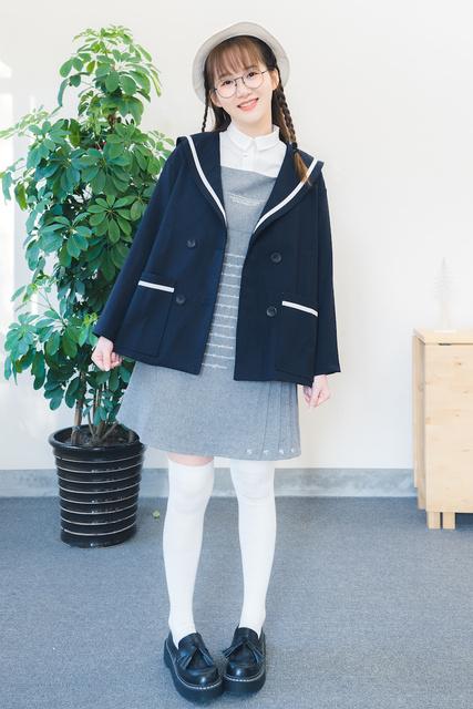 Otoño nueva colección loose cuello de marinero estudiante estilo de muy buen gusto del estilo japonés del todo fósforo mujeres chaqueta niña chaqueta