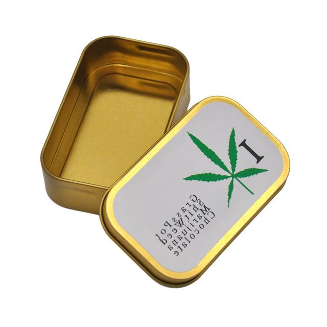 metal Size ( 94*56mm ) Cigarette Tobacco Storage Case Tobacco Box Top With Stickers(Pattern Randomly Send)