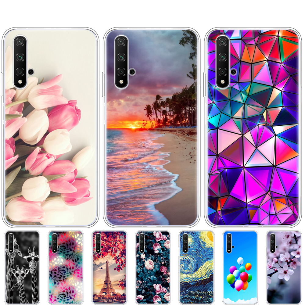 Case For Honor 20 Case Silicon Back Cover Phone Case For Huawei Honor 20 Pro Lite Honor20 YAL-L21 YAL-L41 Luxury Cartoon image