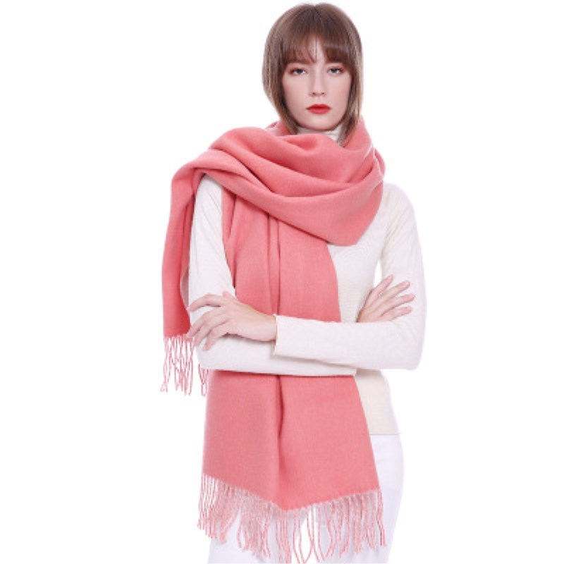 Autumn Winter Women's Different colors on both sides Cashmere   Scarf   Girl's Long Warm   Scarves   Shawl Female Fashion   Scarf     Wraps