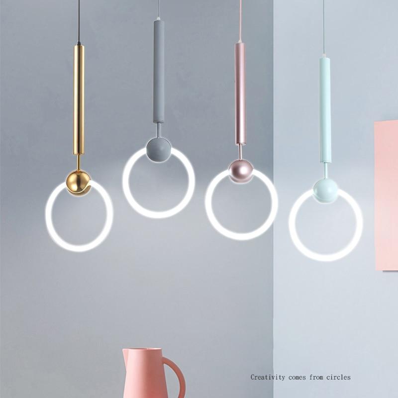 купить Modern LED chandelier nordic living room pendant lamp bedroom fixtures stair lighting novelty illumination loft hanging lights по цене 8044.1 рублей
